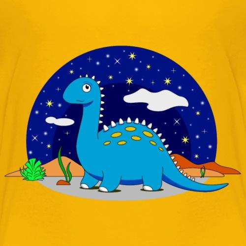 Dino at night Dinosaurier in der Nacht - Kids' Premium T-Shirt