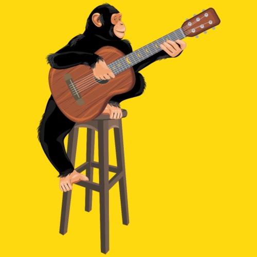 Affe mit Akustikgitarre - Kinder Premium T-Shirt