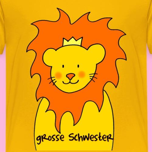 Große Schwester liebevolles Motiv mit Löwe - Kinder Premium T-Shirt