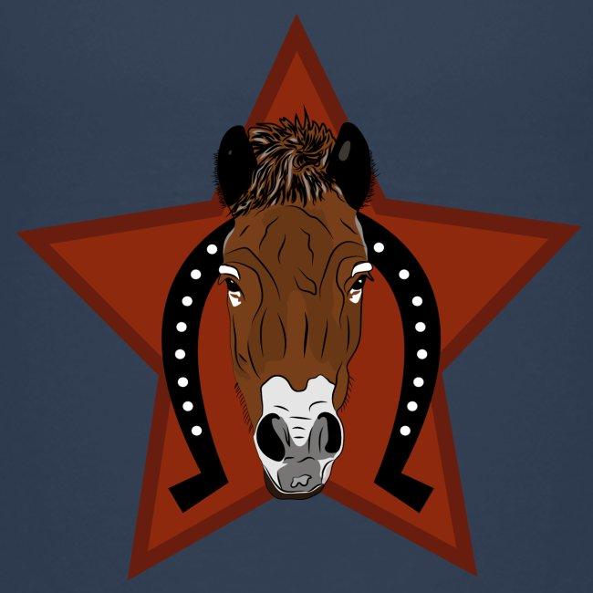 Hoofd paard met ster