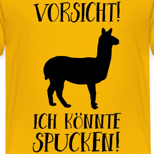 Lama Alpaka Lustiger Spruch Achtung Spucken - Kinder Premium T-Shirt