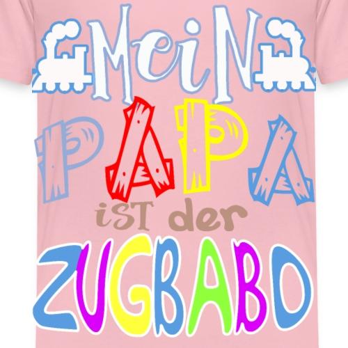 Mein PAPA ist der Zugbabo zugchef lokführer - Kinder Premium T-Shirt