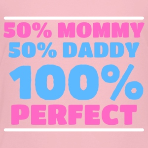 50 % Mommy, 50 % Daddy, 100 % Perfect - Kinder Premium T-Shirt