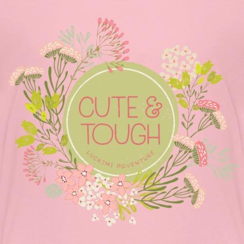 Cute and tough - green - Kids' Premium T-Shirt