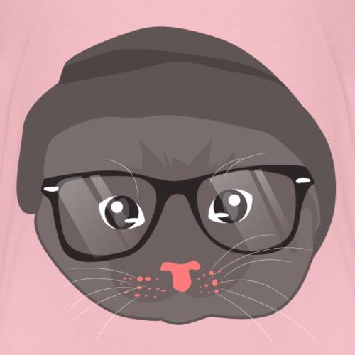Katzen T Shirt mit Katzenmotiv Katzengesicht 2 - Kinder Premium T-Shirt