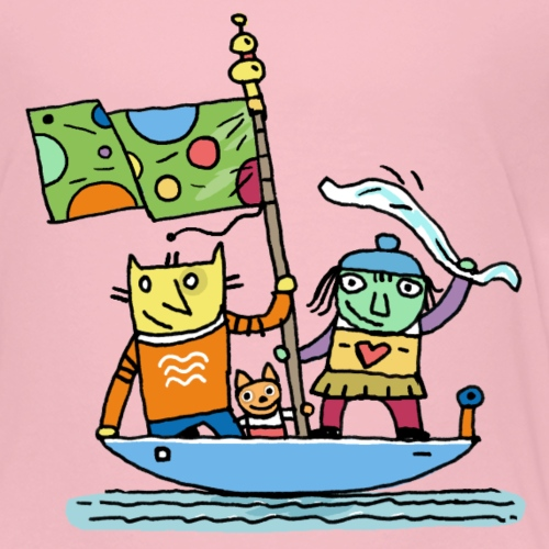 lustige Bootsfahrt - Kinder Premium T-Shirt
