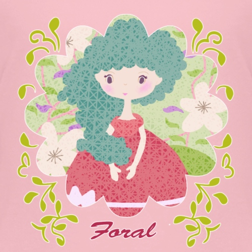 Foral Girl - Kids' Premium T-Shirt