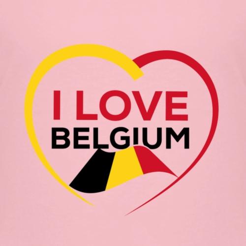 I LOVE BELGIUM FLAG - T-shirt Premium Enfant