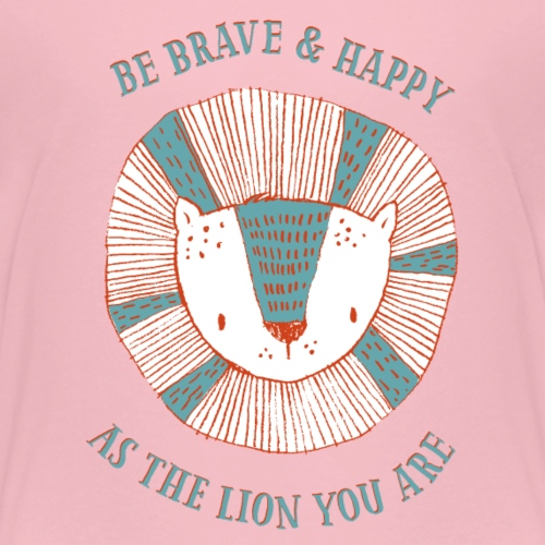 Brave lion - Kids' Premium T-Shirt