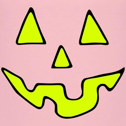 Halloween Gesicht Neongelb Unisex - Kinder Premium T-Shirt