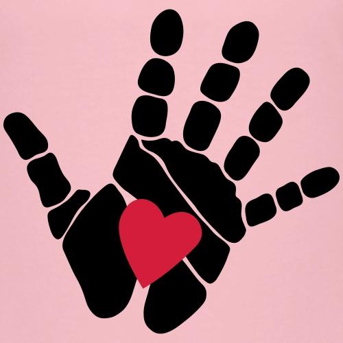Hand mit Herz schwarz - Kinder Premium T-Shirt