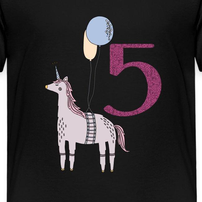 5 Jahre // Geburtstag T-Shirt zum 5. Geburtstag