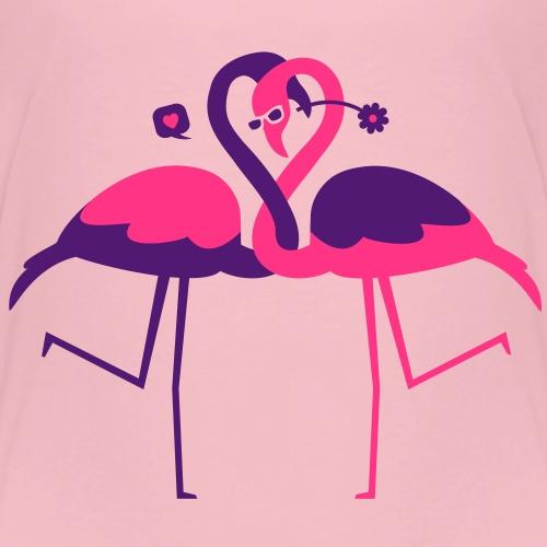 Flamants Roses Amoureux - T-shirt Premium Enfant