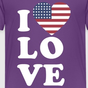 I love USA - T-shirt Premium Enfant