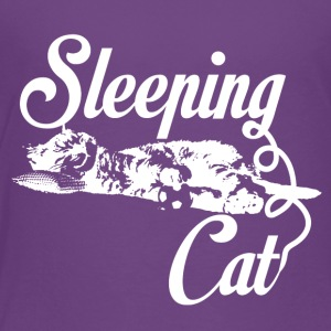 Sleeping cat weiß - Kinder Premium T-Shirt