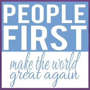 People first - make the world great again - Kids' Premium T-Shirt