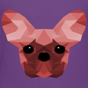 French Bulldog Low Poly Design red - Kids' Premium T-Shirt