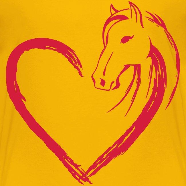Vorschau: Pferde Herz - Kinder Premium T-Shirt