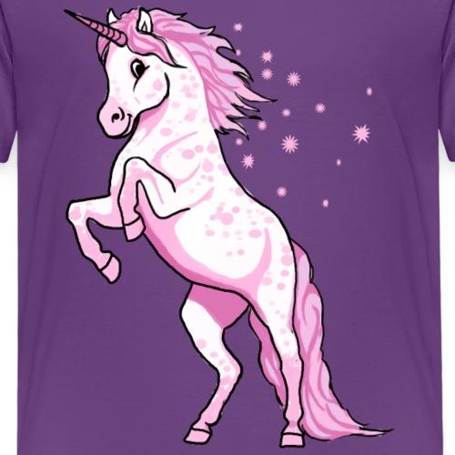 Pünktchen Einhorn Rosa - Kinder Premium T-Shirt