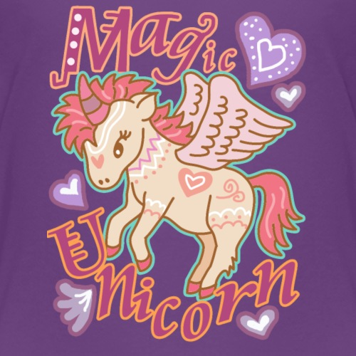Sweet Magic Unicorn Design - Kids' Premium T-Shirt