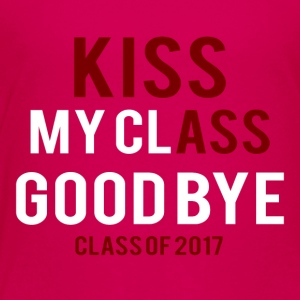 Videregående / Graduation: Kiss Ass - Kiss my Class - Premium T-skjorte for barn