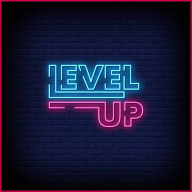 level up neon signboard 118419 1291