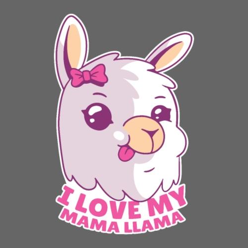 I Love My Mama Llama - Kinder Premium T-Shirt