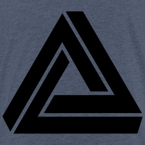 Optical Illusion, Impossible Triangle, mathematics - Kids' Premium T-Shirt
