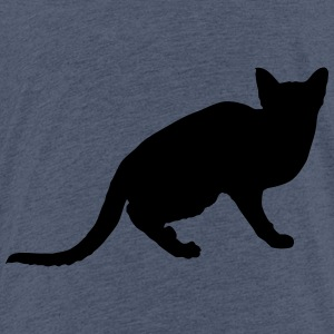 Vector Cat Silhouette - T-shirt Premium Enfant