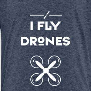 drohne fly quadrocopter pilot air flug propeller - Kinder Premium T-Shirt