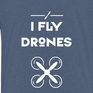 drone fly Quadrocopter pilot air flight propeller - Kids' Premium T-Shirt