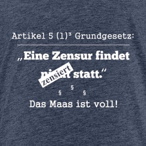 De Maas is vol (wit) - Kinderen Premium T-shirt