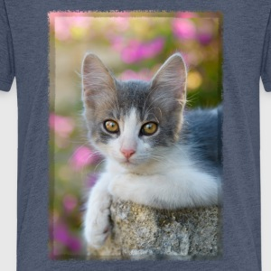 Cute gray-white kitten - Kids' Premium T-Shirt