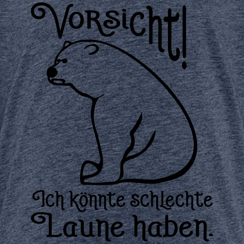 Vorsicht Schlechte Laune Bär Büro Spruch - Kinder Premium T-Shirt