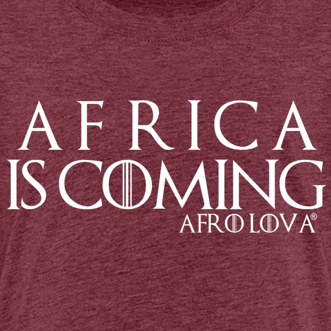 africa is coming blanc