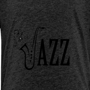 Cool Jazz Music Shirt, Saxophone and Musical notes - Kinderen Premium T-shirt