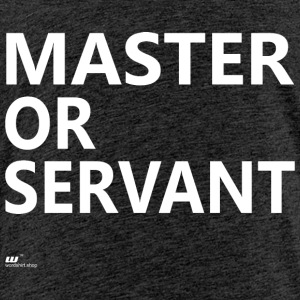 Master of Servant wit - Kinderen Premium T-shirt