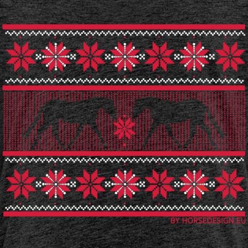 Ugly Sweater Pferde - Kinder Premium T-Shirt