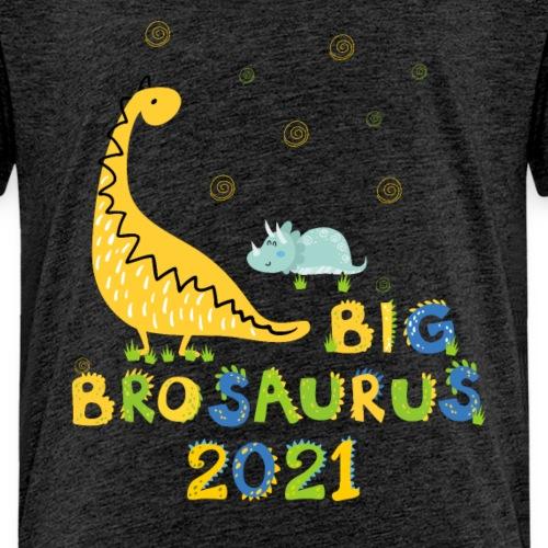 Dino Großer Bruder 2021 Geschenkidee Schwanger - Kinder Premium T-Shirt