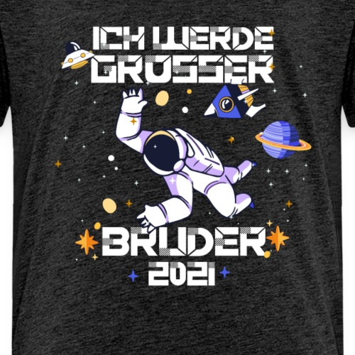 Großer Bruder 2021 Astronauten Astronaut Planeten - Kinder Premium T-Shirt