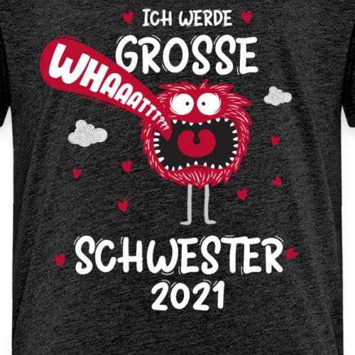 Großer Bruder 2021 lustiges Monster - Kinder Premium T-Shirt