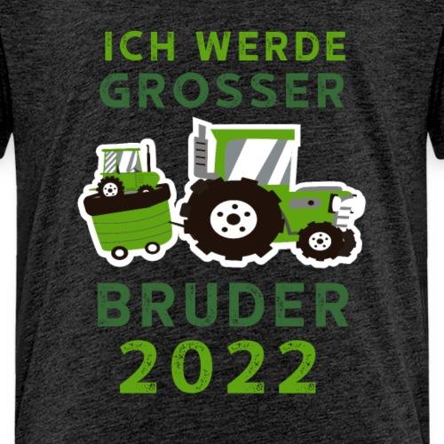 Jungen Grosser Bruder Shirt Traktor 2022 - Kinder Premium T-Shirt