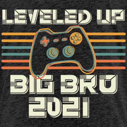 Leveled up to Big Brother 2021 - Kinder Premium T-Shirt