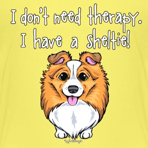 Sheltie Dog Therapy 2 - Kids' Premium T-Shirt