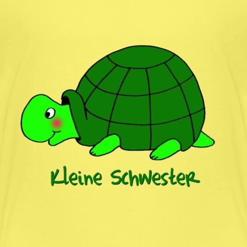 Kleine Schwester Liebevolles Motiv Schildkröte - Kinder Premium T-Shirt