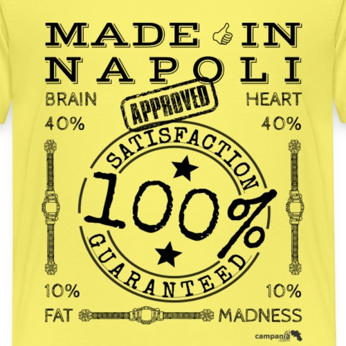 1,02 Made In Napoli - Maglietta Premium per bambini