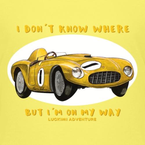 Happy Car Yellow - Kids - Premium-T-shirt barn