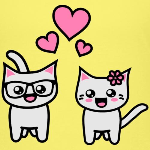 Kawaii Kittehs Valentines - Kinder Premium T-Shirt