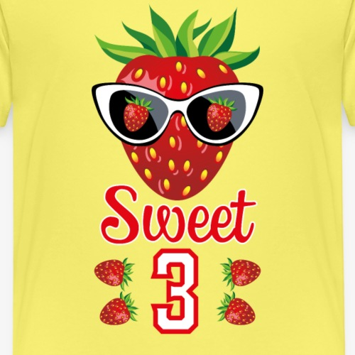 Sweet 3 Erdbeere 3. Geburtstag Kind 07 - Kinder Premium T-Shirt