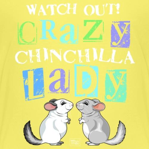 Crazy Chinchilla Lady - Lasten premium t-paita